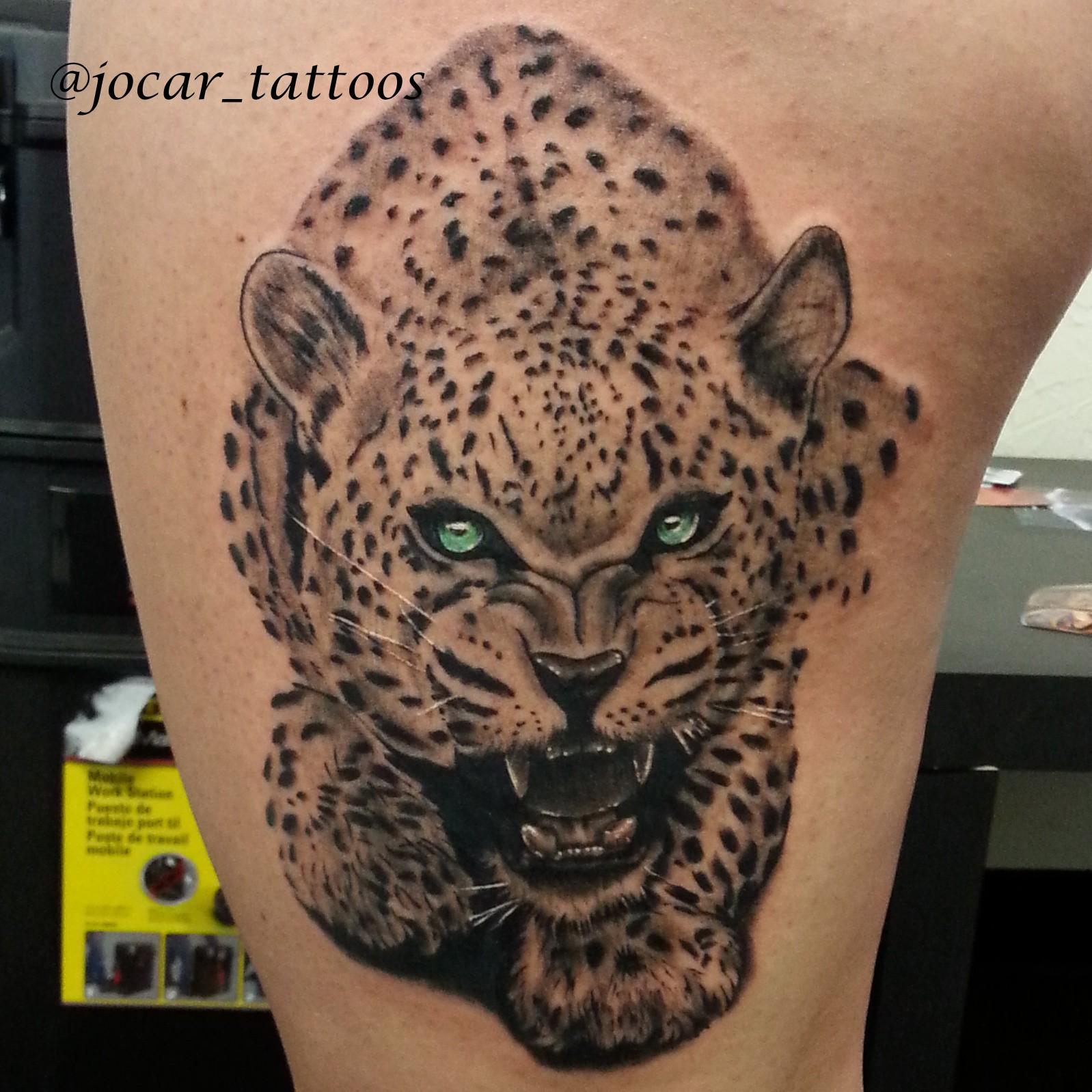 Тату леопарда на плече фото