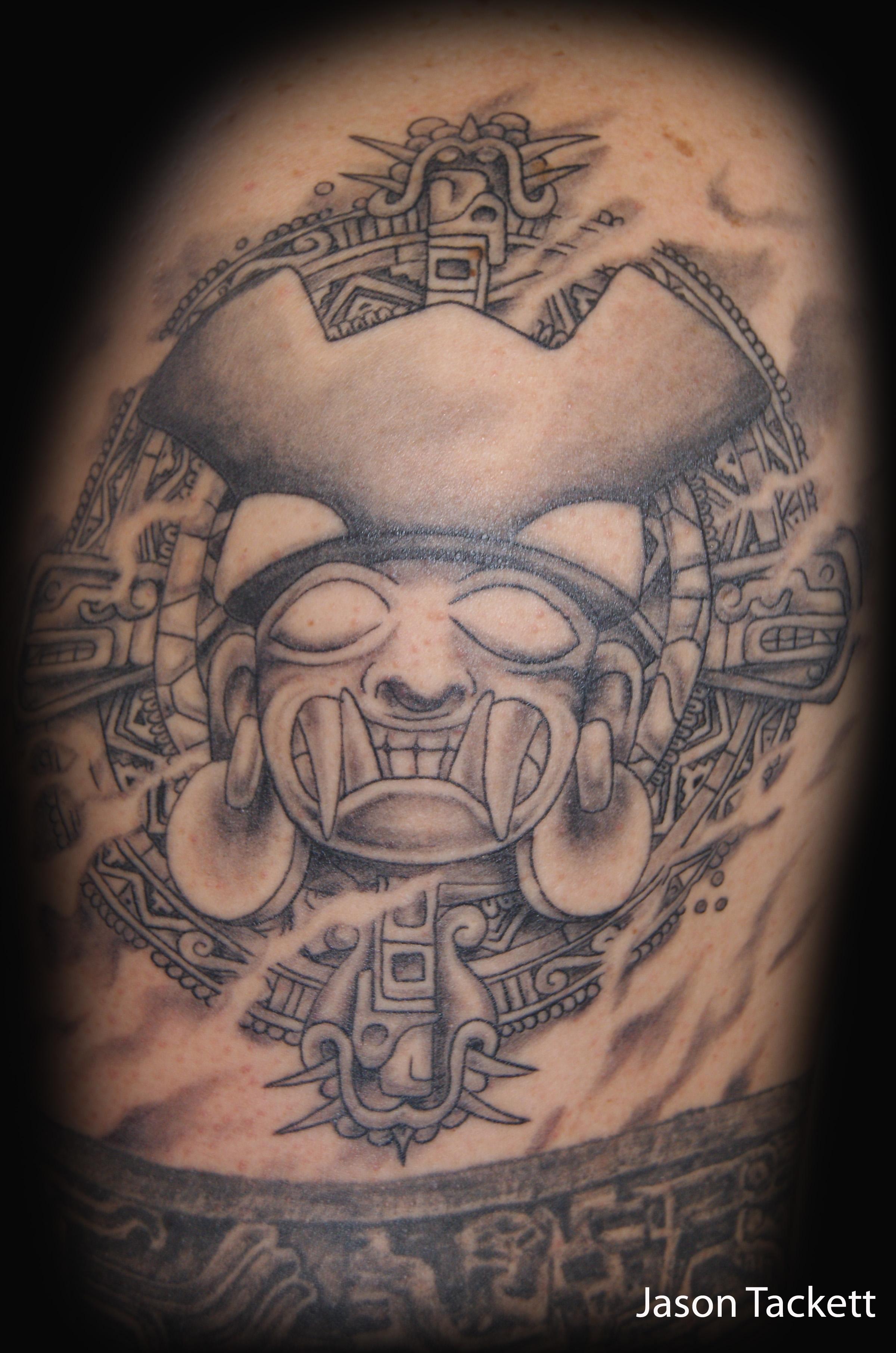 Aztec Tattoos Mictlantecuhtli The Lord Of The Dead Tattoo Designs